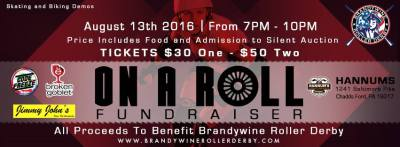 "Brandywine Roller Derby ""On A Roll"" Fundraiser!"